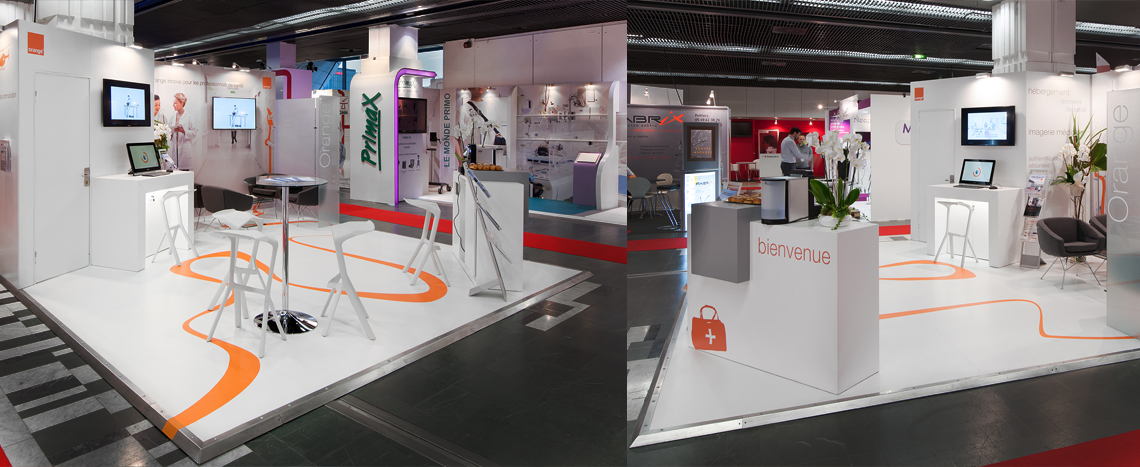 Stand salon orange salon jfr 2014 par expace fabricant for Stand salon