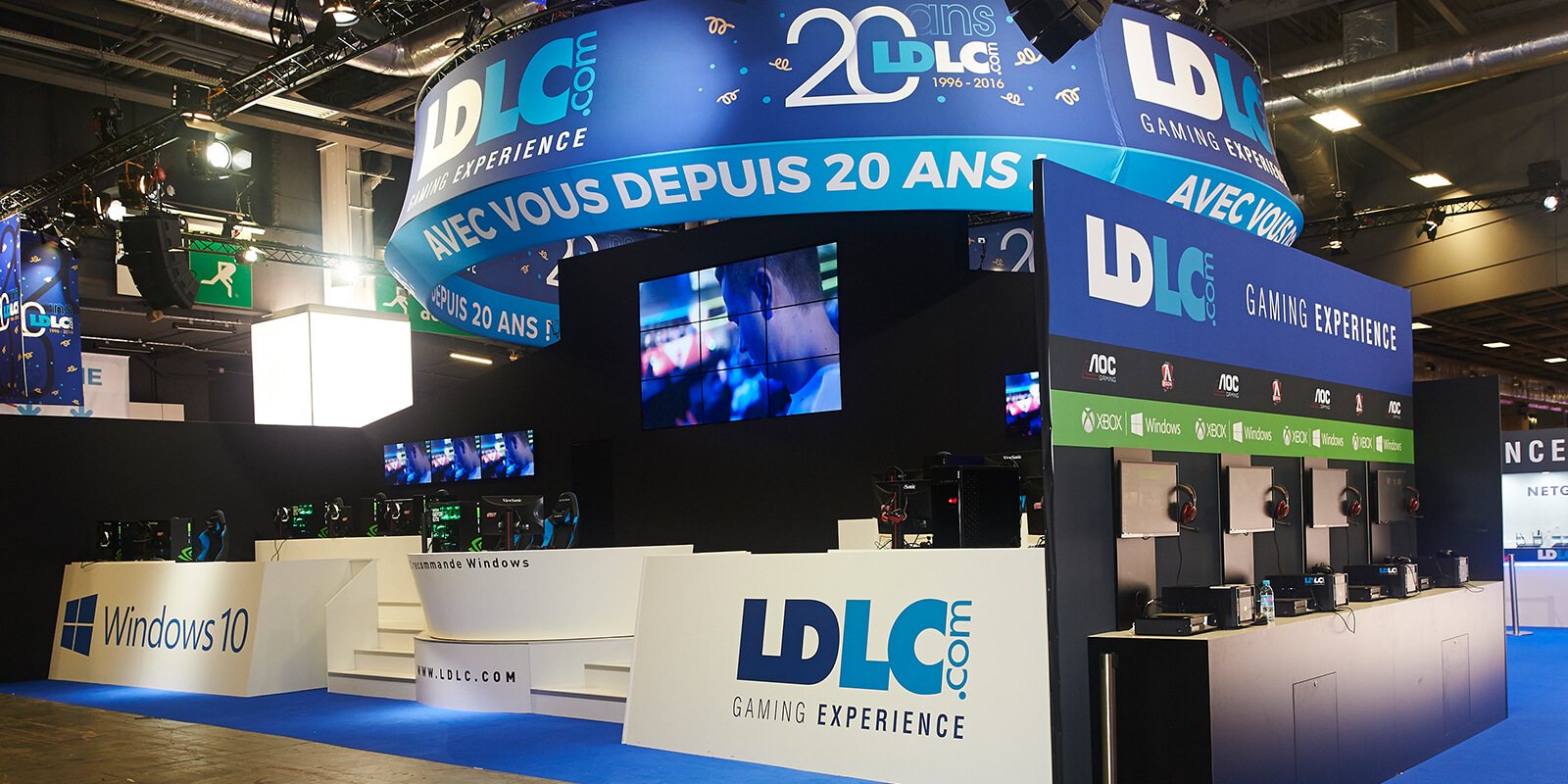 expace-stand-showroom-event-solutions-mobiles-banners-projets_0000_stand – 370m2 – LDLC – GamesWeek – Paris – octobre 20