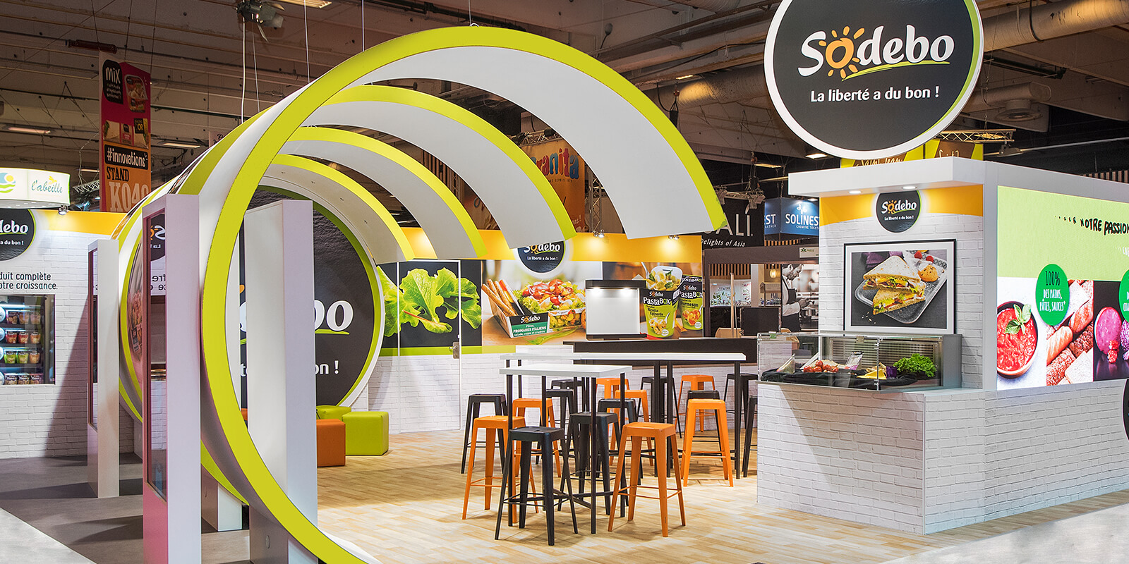 expace-stand-showroom-event-solutions-mobiles-banners-projets_0020_Stand – 81m2 – Sodebo – Sandwich Show – paris – mars