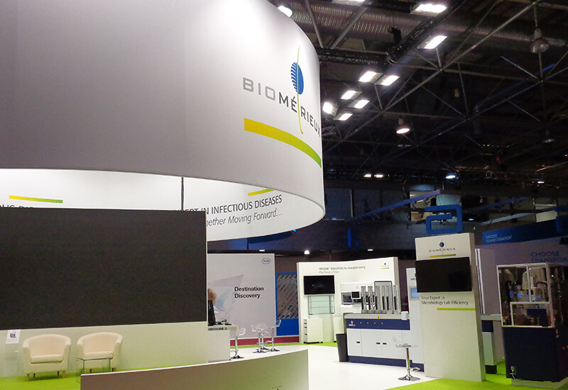 Stand modulable pour biom rieux expace fabricant de stand for Fabricant de stand pour salon