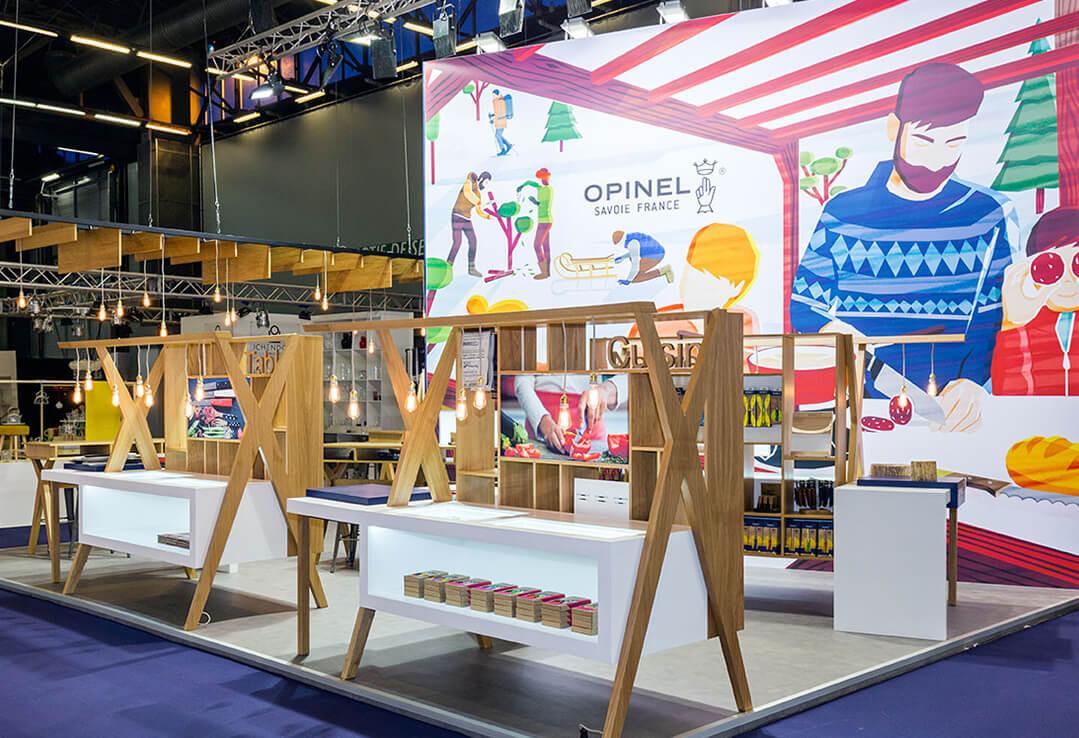Fabrication de stand pour opinel expace votre fabricant for Fabricant de stand pour salon